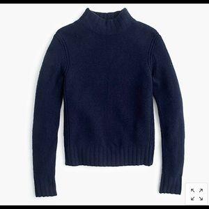 J.Crew mock neck sweater in super soft yarn